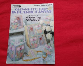 clowns for baby vintage plastic canvas pattern book