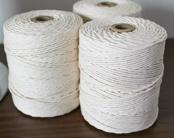 2mm Cotton String, 825 feet, Macrame Cord, Natural Cotton, Cotton String, Rope
