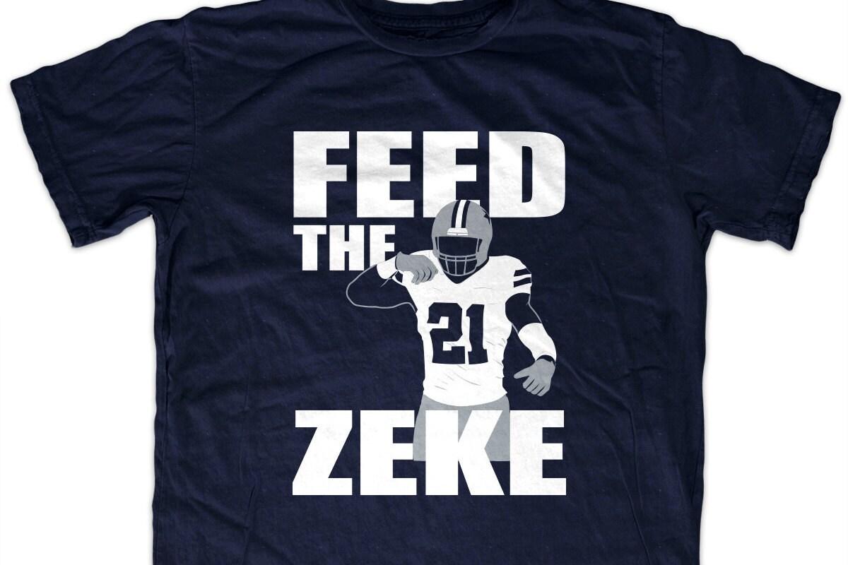 Shirt design dallas tx - Ezekiel Elliott Feed The Zeke T Shirt