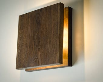 Wood lamp etsy wall light wooden sc145 handmade wooden sconce wood lamp plug in mozeypictures Images