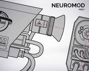 PREY Neuromod blueprint 1:1 scale
