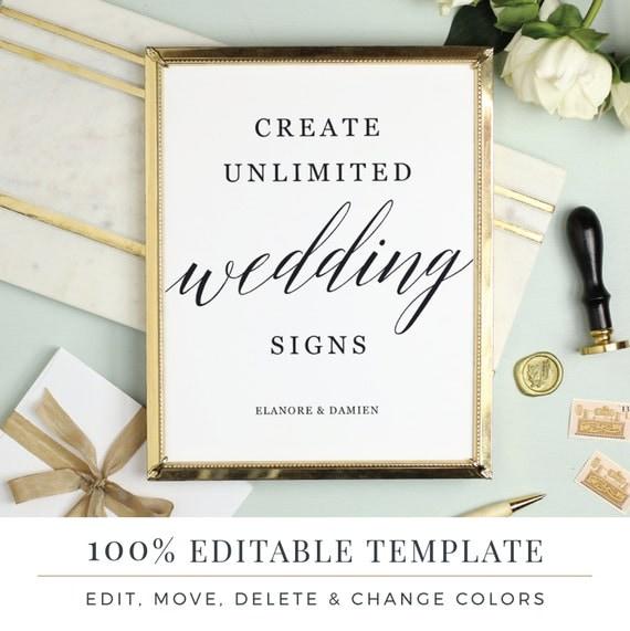 wedding signs templates