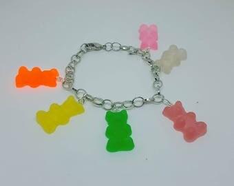 Candy Charm Bracelet Gummi Gummy Bear Rainbow Jewelry