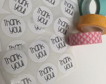 Thank you stickers,Thank you stickers,Favor Thank You Stickers,ROUND White Thank You Labels Stickers,custom labels,custom stickers,labelin