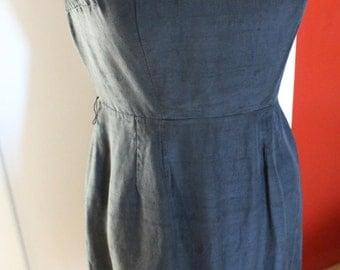 Vintage 1960s Black Silk Wiggle Dress Women, 60s Dress, 60s silk dress, wiggle dress,Sears,Vintage Clothing, Silk, Small, 1960s Dress,