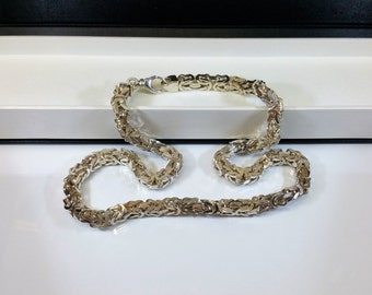 King chain necklace Silver 925 solid SK514