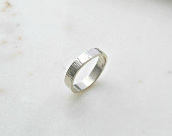 Chunky Silver Stacking Ring