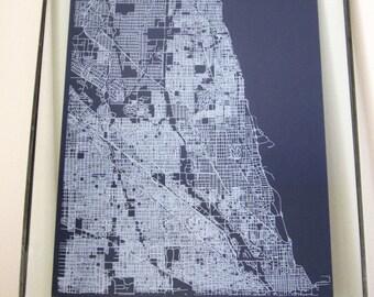 North Chicago Street Grid Map