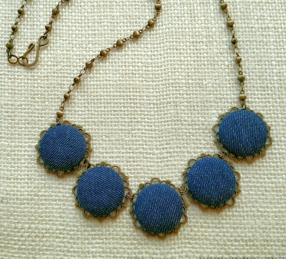 Denim statement necklaces 200 upcycling ideas that will for Statements that will blow your mind