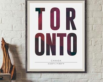 Toronto City Print, Toronto Poster, City Names Print, DIGITAL PRINT, City Poster, Cities Wall Art, Subway Poster, Minimalist Prints