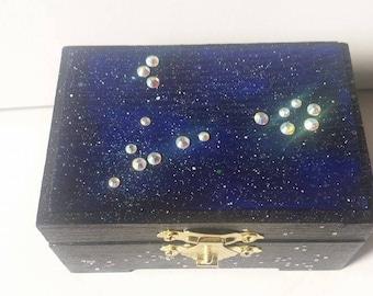 Pisces Jewelry Box Zodiac Jewelry Box Pisces Constellation Pisces Zodiac Sign Pisces Zodiac Art Pisces Star Sign Constellation Art