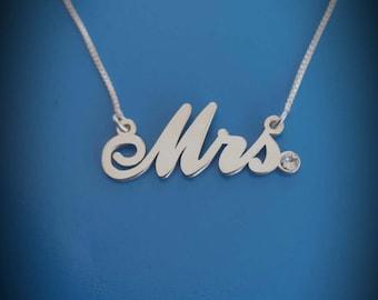Name Charm Necklace With Birthstones Trisha Paytas Necklace Wedding Gift Name Necklace Name Plate Necklace Wedding Necklace
