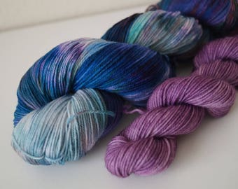 Mermaid Cove Duo on Classic Sock – Hand Dyed Yarn