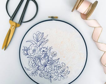 Floral Wreath | Yin Yang | Home Art | Wall Art | Flower Art | Gift for Her | Desk Decor | Housewarming Gift | Cloth and Twig