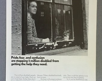 1969 Help Advertising Council Print Ad - Disabilities - Disabled