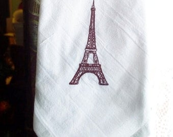 Eiffel Tower Tea Dish Towel PREMIUM