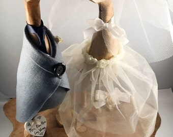Small Wooden Wedding Ducks