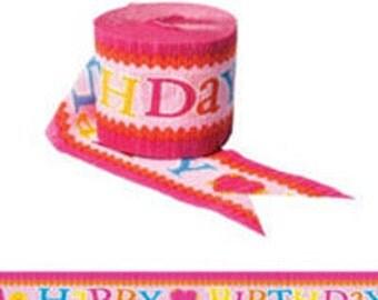 Lalaloopsy ''Happy Birthday'' Crepe Paper Streamer 30ft
