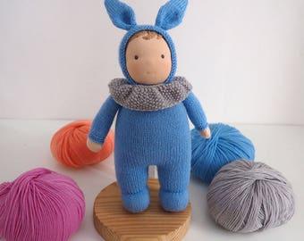 Waldorf baby boy doll, waldorf toy, knitted doll boy, handmade doll, cloth doll, rag doll, kids gift