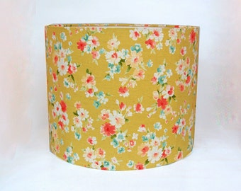 Floral Drum Lampshade/ Ceiling Lamp Shade/ Table Lamp (Large)