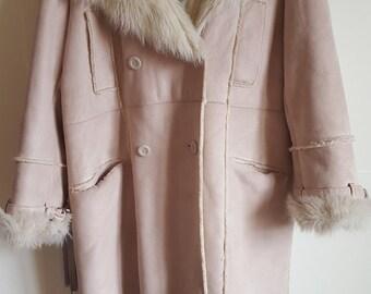 vintage BALMAIN T46 beige coat