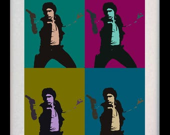 Han Solo Colours (Limited Edition of 100) - A3 Poster Art Han Solo Star Wars Print Andy Warhol Illustration Wall Decor Wall Art Gift Rare
