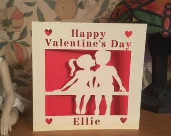 Valentine's Day Card - PaperCut - Personalised - Valentines Day Card - Wife - Husband - Girlfriend - Boyfriend  - For Him - For Her