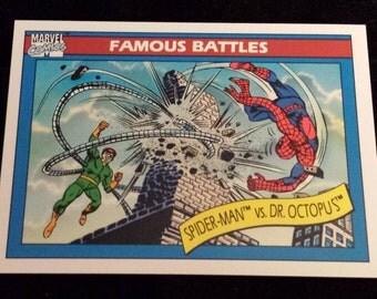 Spider-Man vs Dr. Octopus #93 - 1990 Marvel Universe Series 1 Base Trading Card