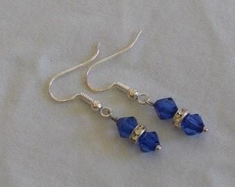 Dark Blue Acrylic Earrings