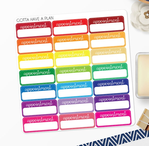 Planner Stickers Appointment Reminder Label For Erin Condren