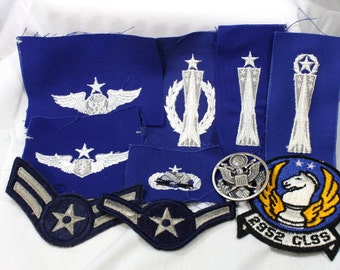 US Air Force Patch Lot-Viet Nam and 1980's Era-Assortment