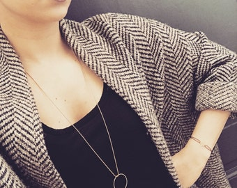 Purple pineapple necklace