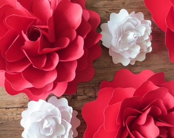 Mixed Peonies - Paper Flowers - Table Centerpiece - Home Decor - Party Decor - Flower Backdrop - Table Scatter - Photo Prop - Wedding Decor