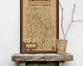 Continental Divide Trail Map - Hiking trail map, Continental Divide Trail,  hiker map, continental trail map, hiker map, cdt map