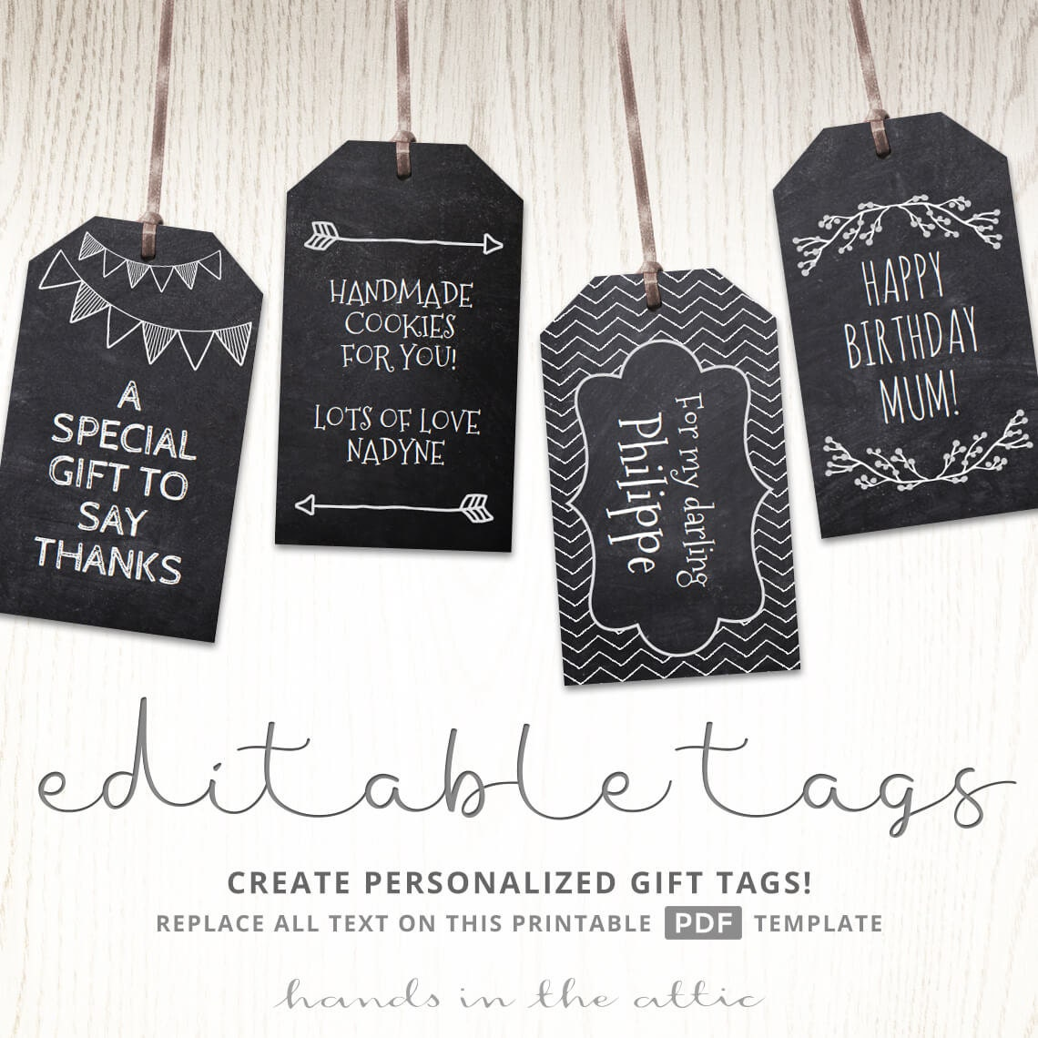 This is a graphic of Clever Free Printable Editable Christmas Gift Tags