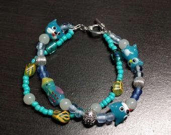 Wintery Blue Charm Bracelet