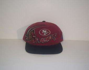 Vintage San Fransisco 49ers Logo Athletic Snapback