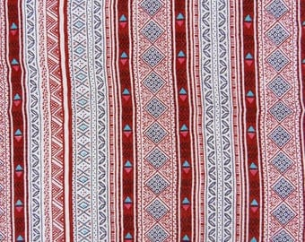 """Designer Fabric, Stripe Print, White Fabric, Dress Fabric, Sewing Crafts, Rayon Fabric, 42"""" Inch Fabric By The Yard ZBR320A"""