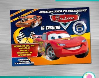 Cars Invitation DIY, Cars Printable Invitation, Cars Digital Invitation, Cars Party, Cars Birthday