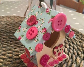 Hand Decorated Fairy House
