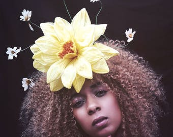 Sunshine flower headband - festival  - glasto - burning man / costume