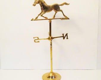 Weathervane/Horse/Horse Weathervane/Table Top Weathervane/Brass Weathervane/Horse Weather Vane/Equestrian Gift/Weather Vane/Brass Horse