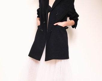 Unisex coat, wool overcoat, double breasted coat, women's coat, jacket coat, black coat, classic overcoat, oversized coat,