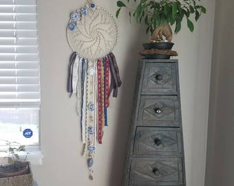 Crystal and Ceramic Dreamcatcher