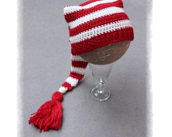 Elf baby Hat, Christmas Baby hat, Elf Baby PHOTO PROP Hat, Crochet baby hat, Crochet Long tale Elf Hat, Code: Elf-02, GAMMAkids