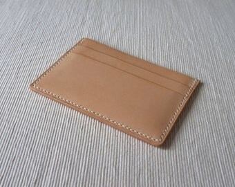 H14 - Handmade Leather card holder / cardholder [Handmade] [Vegetable tanned leather] [Handstitched] [Free shipping]