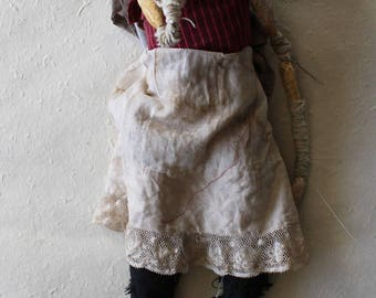 Anna- papier-mâché art doll ooak