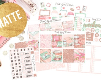 Matte | I Heart Planning | Weekly Planner Sticker Kit