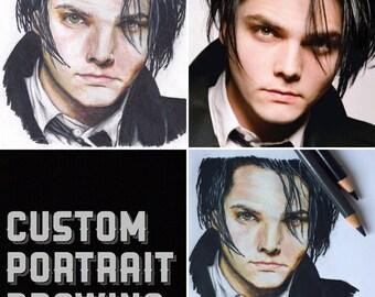 Custom Portrait Drawing, Portrait Drawing Commission