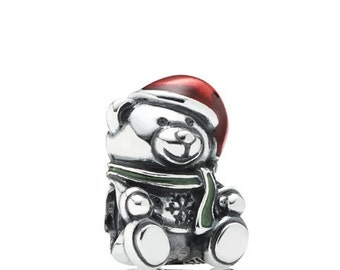 Pandora Christmas Bear Red & Green Enamel #791391ENMX-